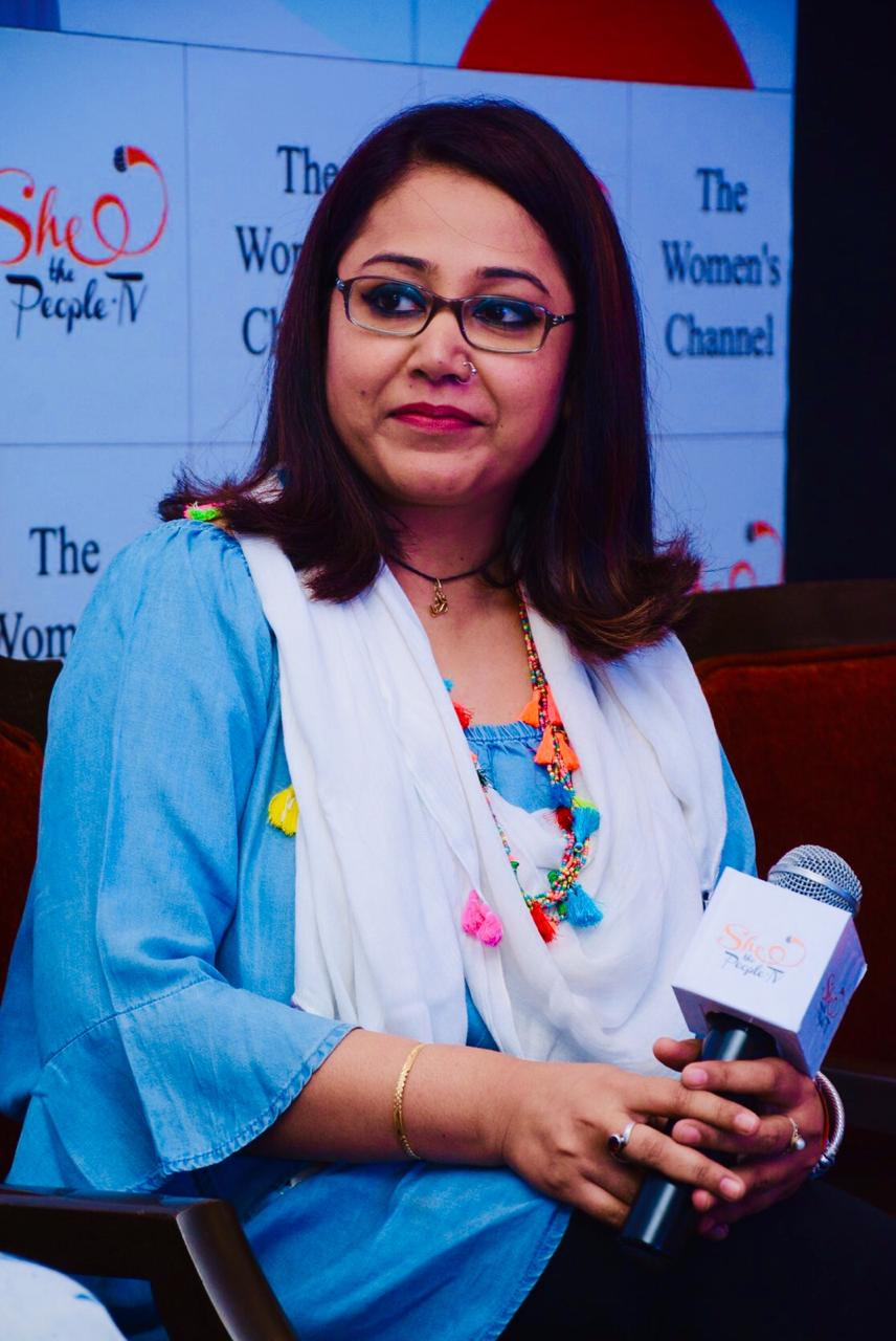 Sujata Parashar (TiOE Founder) Speaking at an event